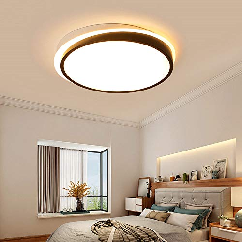 WFSDKN Plafonnier Slaapkamer, moderne plafondverlichting, kleur Boby, wit en zwart, voor 8-15 meter plafondverlichting met afstandsbediening