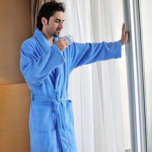 YPDM badjas, dikke badjas van 100% katoen, badstof badjas van 100% katoen, mantel van 100% katoen, mantel