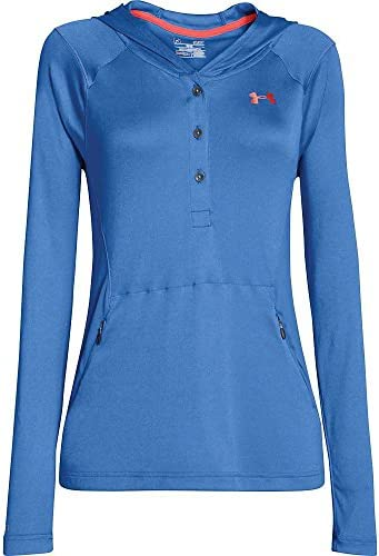 Under Armour Camiseta de Manga Larga Color Azul para Mujer