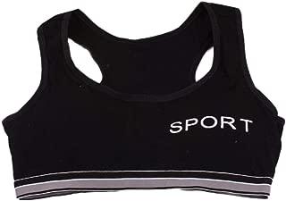 Big Girls' Crop Bra 10-15 Years Old,Teen Girls Kids Cotton Breathable Sports Training Bra Underwear Underclothes