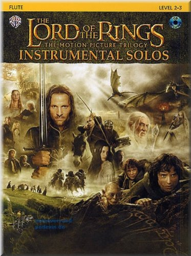 The Lord Of The Rings (Herr der Ringe) - Instrumental Solos Flute - Flöte Noten [Musiknoten]