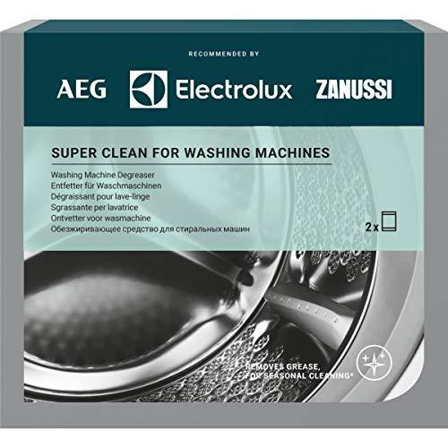 AEG M3GCP200 9029799310 Super Clean - Tiefenreiniger für Waschmaschinen. Enthält 2 Sachets.