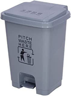 WWWXD Trash Can Plastique, 15L / 20L / 30L / 40L / 50L / 60L Pied Boîte de Rangement, Hôpital Hôtel Cuisine Ménage Poubell...