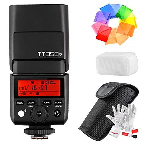 Godox TT350O 2.4G TTL Speedlite フラッシュ オリンパス パナソニックカメラ用 GN36 HSS 1/8000s 210 パワー フルフラッシュ 22 ステップ 電力出力 (1/1-1/128) 24-105mm 自動/手動ズーム Pergearクリーニングキット付き