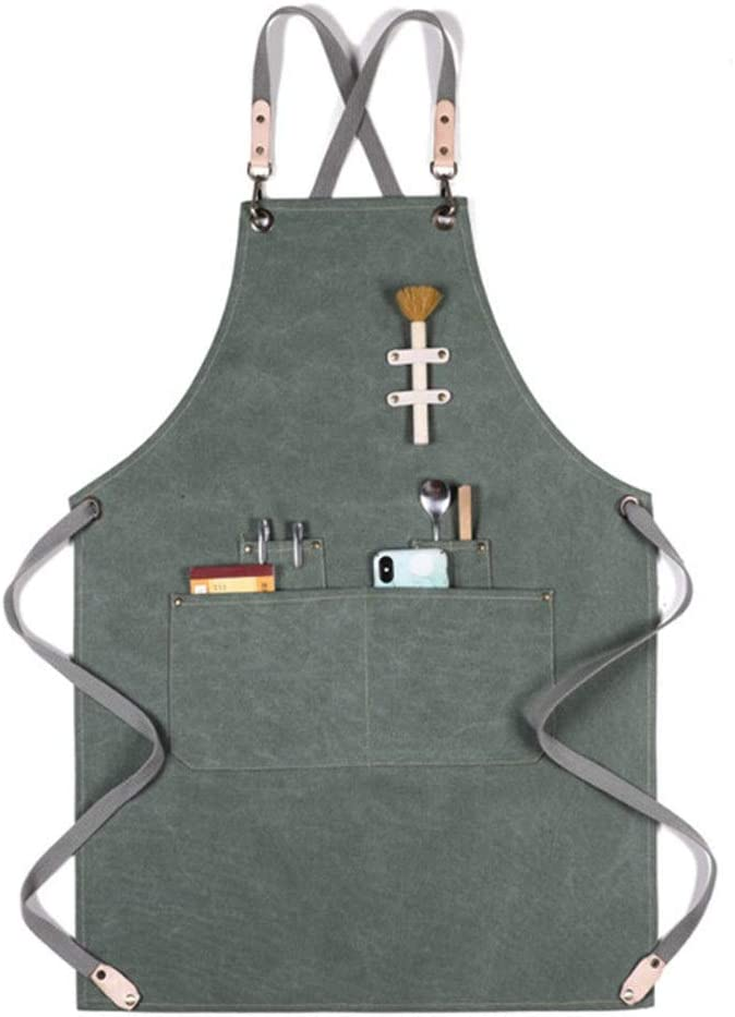 Rare NeoMcc Canvas Work Max 73% OFF Aprons with Unisex Tool Pockets Multi-Pocket