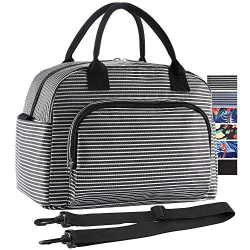 ORASANT Lunch Bag, Large Durable Insulated Water Proof Cooler& Thermal Lunch Box for Women and Men, Fashionable Lunch Tote with Detachable Shoulder Strap for Work, School, Beach, Picnic, Camping