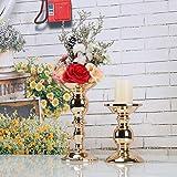 GoMaihe Retro Kerzenhalter 2 Set in Unterschiedlicher Größe, 22/15.5cm Antik Kerzenständer Eisen Deko Kerzenleuchter für Stumpenkerzen, Kerzen Ständer Tischdeko Hochzeit Weihnachten Geburtstag.MEHRWEG - 6