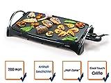 Teppanyaki Bratplatte (Tischgrill mit 2200Watt, schnelles garen, Multigrill mit Hot Zone Bratzone)