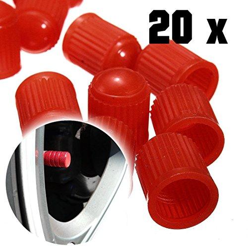 Alpin Lot de 20 bouchons de valve Rouge