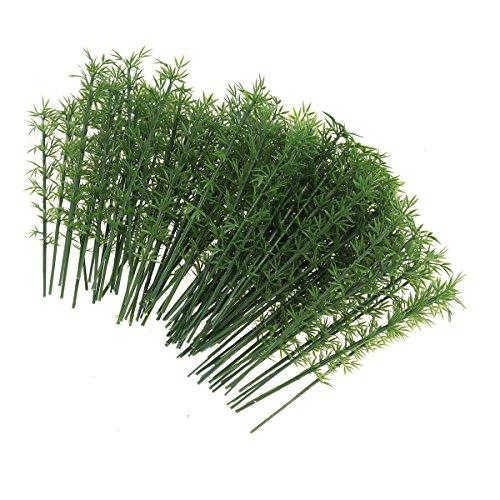 Vorcool, 100 piante di bambù artificiali in scala 1:75, per paesaggi e modellismo ferroviario (verde)