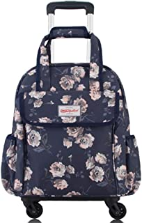 """Holdall Trolley Bag Ladies Hand Baggage Holiday Weekend 16"""" (Color : E, Size : L33×W16×H38cm)"""