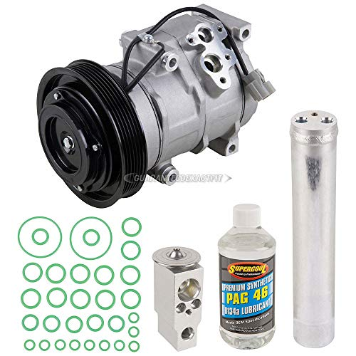 AC Compressor & A/C Kit For Honda Accord Coupe V6 & Acura TL - Includes Drier, Expansion Valve, PAG Oil & O-Rings - BuyAutoParts 60-80261RK New