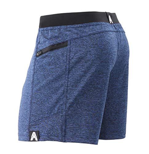 """Anthem Athletics Hyperflex 5"""" Workout Training Gym Shorts - Iron Navy G2 - Large"""