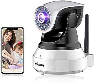 Camara IP WiFi 1080P, Camara de Vigilancia Inalámbrico, con HD Zoom, Vision Nocturna, Comunicación Bilateral, Detección de...