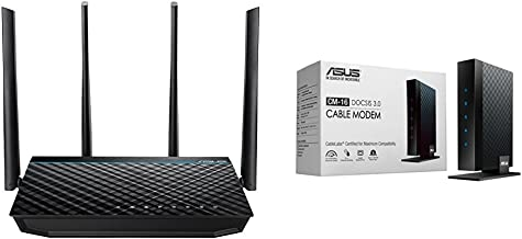 Asus AC1700 Dual band Wireless router (RT-ACRH17) with DOCSIS 3.0 16X4 Cable modem ( CM-16) Kit