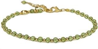 Morchic Mini Beads Natural Gemstone Semi Precious Women Girls Adjustable Bracelet, Energy Gem Charm Series Birthday Gift