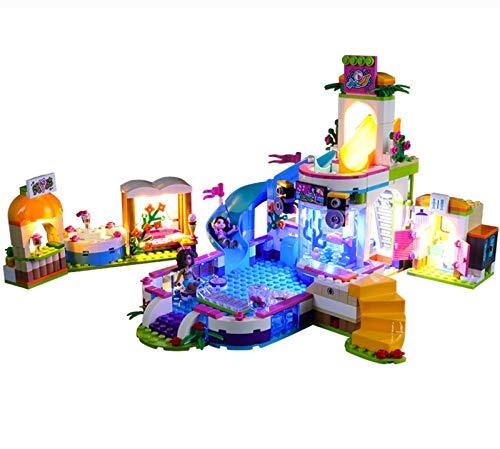 QZPM Kit De Iluminación Led para Lego Friends Piscina De Verano De Heartlake,Compatible con Ladrillos De Construcción Lego Modelo 41313 (Juego De Legos No Incluido)