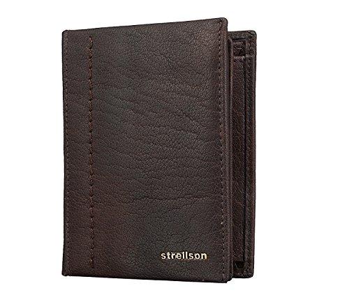 Strellson Walker billetera V8 Café oscuro Cuero- monedero de la cartera