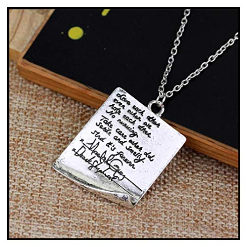 In Box Greys Anatomy Necklace Quote Handwriting Letter
