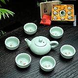 Ksnrang Juego de té Evento Regalo de Negocios Regalo de devolución de Boda Regalo publicitario Logotipo Personalizado Regalo de canje de Puntos-Estilo 1