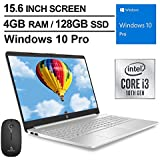 2020 Newest HP 15.6 Inch Premium Laptop| Intel Core i3-1005G1 (Beats i5-7200U)| 4GB DDR4 RAM| 128GB SSD| WiFi| Bluetooth| HDMI| Win10 Pro| Silver + NexiGo Wireless Mouse Bundle