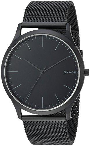 Skagen Men Jorn Analog-Quartz Watch with Stainless-Steel Strap, Black, 22 (Model: SKW6422)