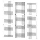 ECONOCO Portable 2' X 8' Black Grid Panels - Pack of 3