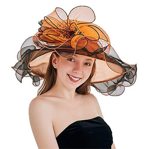 Diadema Sombrero Fascinator de la flor pastillero umeepar Clip Cabello para Mujeres té de Kentucky