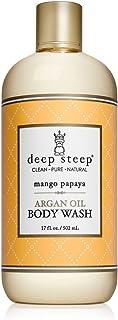 Deep Steep Argan Oil Body Wash, Mango Papaya, 17 Ounce