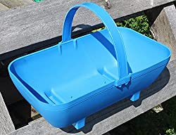 eTree Blue Planter, Large Plant Display, Trug Container