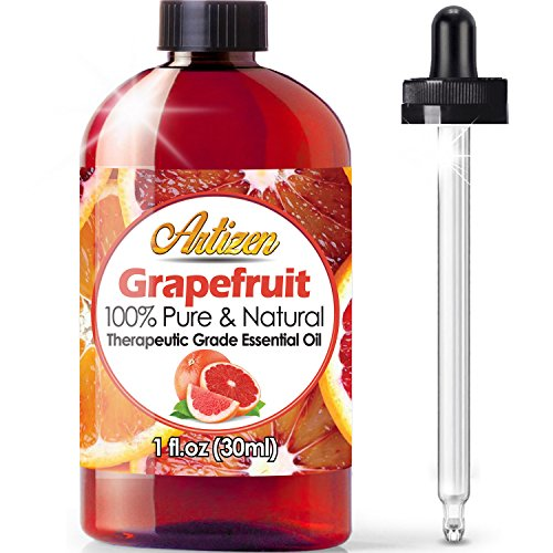 Artizen Grapefruit Essential Oil (100% Pure & Natural - Undiluted) Therapeutic Grade - Huge 1oz Bottle - Perfect for Aromatherapy, Relaxation, Skin Therapy & More!