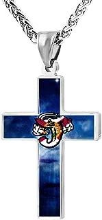 M100% 2018 Jacksonville Jumbo Shrimp Florida Flag Metal Religious Zinc Alloy Stainless Silver Steel Cross Necklace Holder Pearl Chain Urn Pendants
