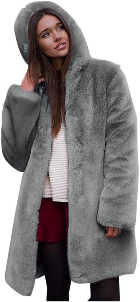 Womens Hooded Faux Fur Lined Warm Coats Parkas Outwear Winter Long Jackets