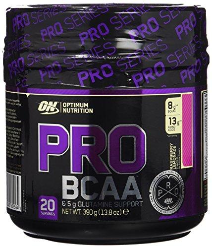 Optimum Nutrition PRO BCAA, Aminoácidos Ramificados en Polvo con Glutamina, Limonada de Frambuesa, 20 Porciones, 390 g