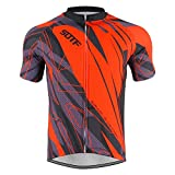 Manga corta Ciclismo Camisa al aire libre Protección solar Ciclismo Jersey Correr Baloncesto Tops - rojo - L busto 106...