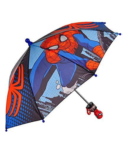 Q New Spiderman Toddler Boy Umbrella Age 3 and up, Red/Multi, Size One Size