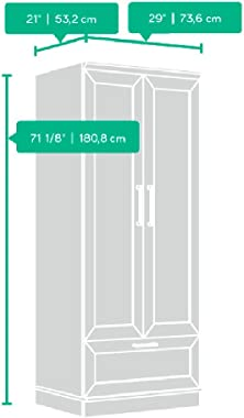 "Sauder HomePlus Wardrobe, L: 28.98"" x W: 20.95"" x H: 71.18"", Dakota Oak finish"