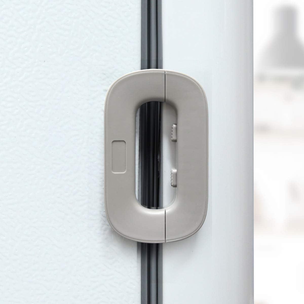 gazi Upgrade Home Refrigerator Fridge Freezer Door Lock, Latch Catch Toddler Kids Child Fridge Locks Baby Safety Child Lock, Easy to Install and Use 3M VHB Adhesive no Tools Need or Drill