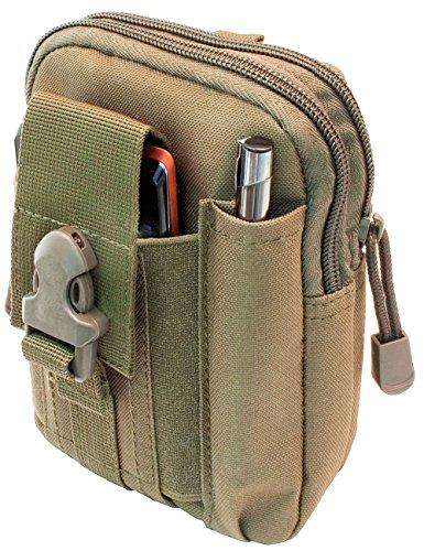 Outdoor Saxx® - tactische riemtas, heuptas, transporttas voor apparatuur mobiele telefoon Smartphone GPS Tracker MP3 speler mes, kaki/beige