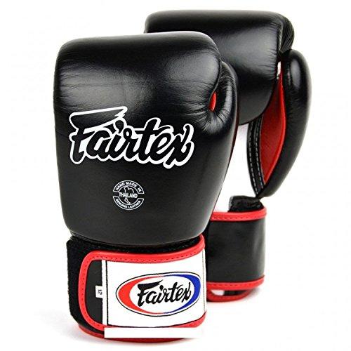 Fairtex Muay BGV1Serie–Guantes–Black–Guantes de boxeo MMA Kickboxing Sparring Muay Thai piel, negro