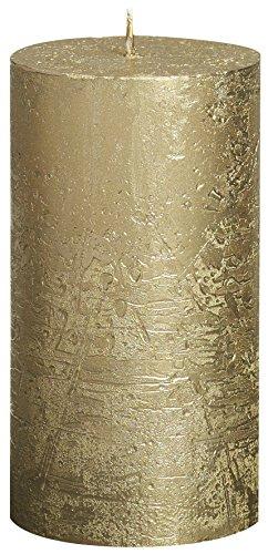 BOLSIUS RUSTIK Metallic Stumpenkerze 130 x 68 mm gold
