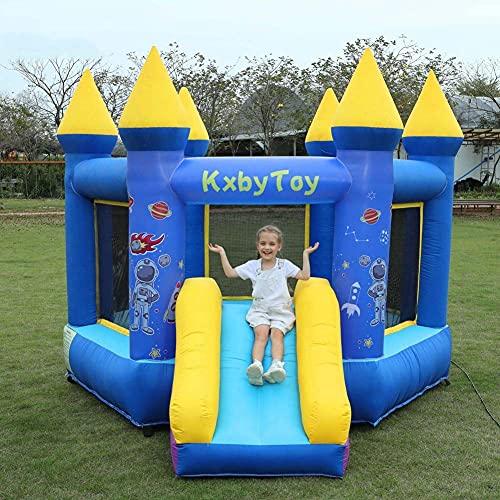 Skyeep Castillo Hinchable con Tobogán para Niños Piscina de Juegos,Parque Acuático Castillo Inflable de Jugego 3 x 3.5 x 2.3 m con Soplador (Color : B)