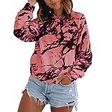Hoodie Sweatshirt Damen Sweatshirts Mit Rundhalsausschnitt Bedruckte Streetwear-Oberteile...