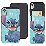 WiLLBee Compatible with iPhone Xs/iPhone X Case Dual Layer Card Slide Slot Wallet Bumper Cover - 3D Stich