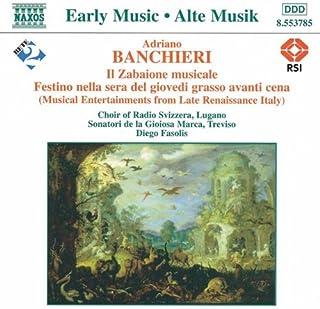 Festino Nella Sera Del Giovedi Grasso Avanti Cena, Op. 18: Xviia. Li Festinanti (Solo Di Scacciapensieri: Marco Beasley)