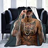 Micffo August Alsina Blanket is A Stylish Collage of Super Soft Flannel Quality Fabrics 50'' x40