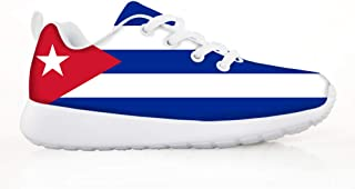 Owaheson Boys Girls Casual Lace-up Sneakers Running Shoes Tunisia Flag