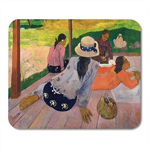 Mauspads The Siesta von Paul Gauguin 1892 94 Französisches Post-Mauspad für Notebooks, Desktop-Computer-Matten Büromaterial
