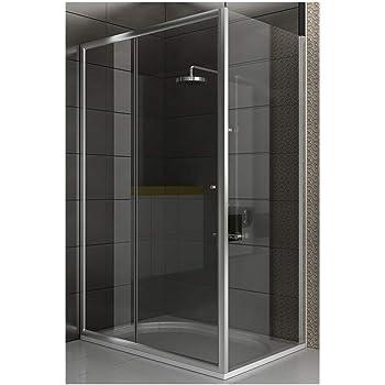 Mampara de cristal esquina diseño cabina de ducha 120 x 80 x 190 ...