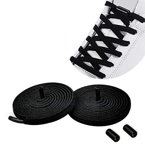 Elastische Schnürsenkel Ohne Binden für Sneaker   Schuhbänder Gummi Schnürsenkel mit Schnellverschluss/Gummischnürsenkel Einstellbare mit Metallverschluss, No Tie Schnürsenkel Nie mehr Schuhe binden